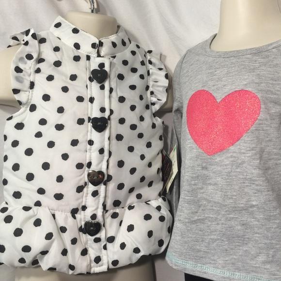 Girls WONDER KIDS panda jumper outfit 2T 3T 4T NWT dress shirt leggings dots